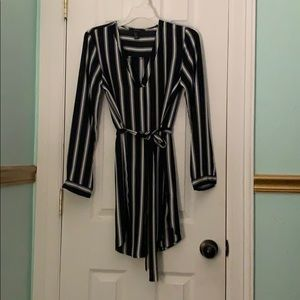 Forever 21 Dresses - Long sleeve, black and white striped dress.